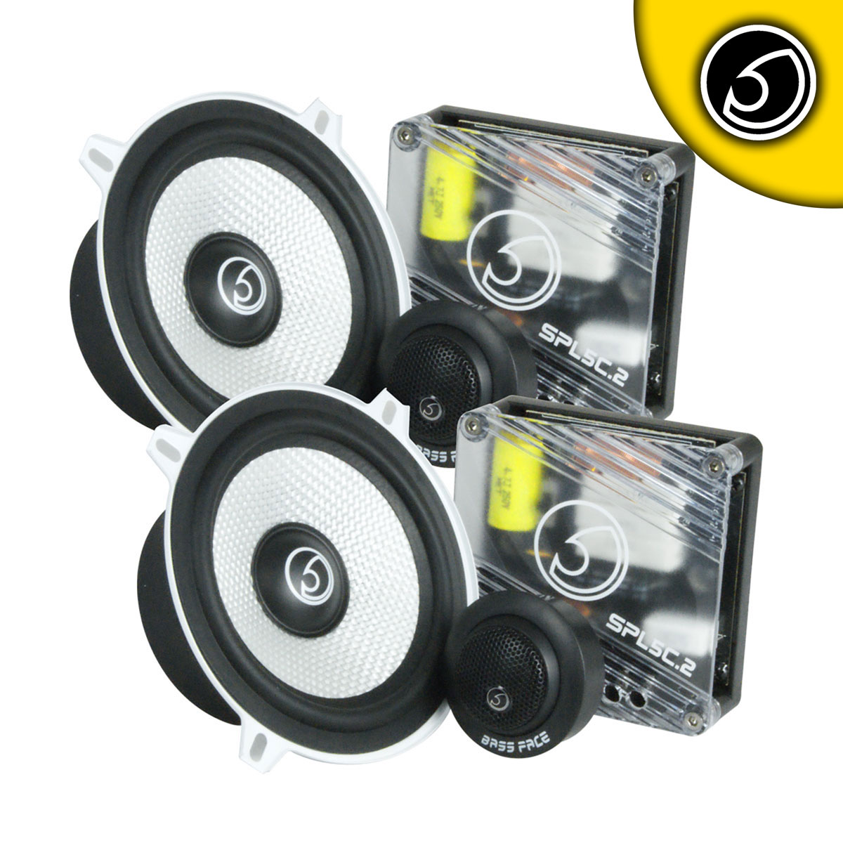 "Bassface SPL5C.2 700w 5.25"" Inch 13cm Car Door Component Speaker & Tweeter Kit"