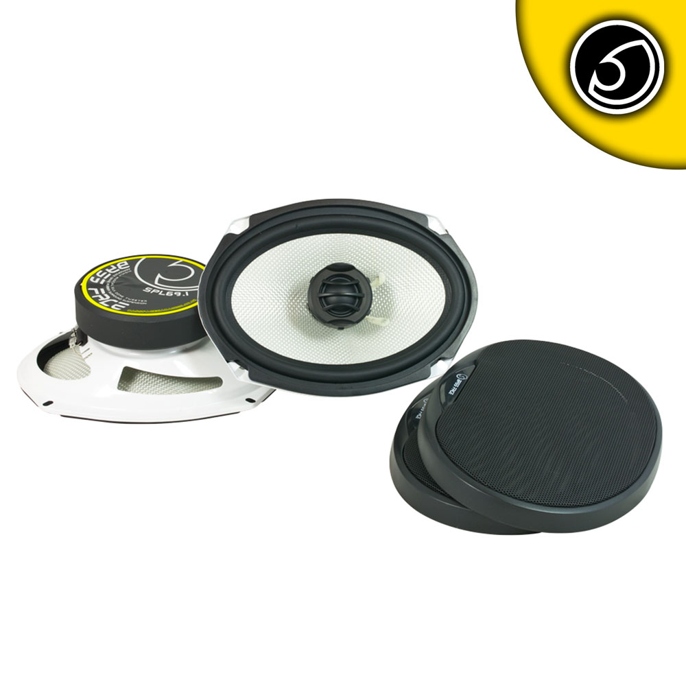"Bassface SPL69.1 1000w 6x9"" Inch 15x23cm Coaxial 2Way Parcel Shelf Speakers Pair"
