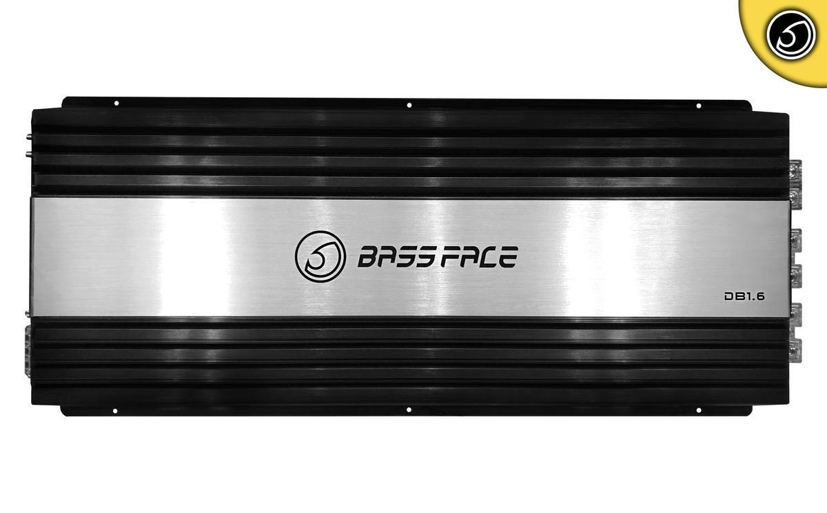 Bassface DB1.6 5500w RMS 1 Ohm Class D Monoblock Subwoofer 12v Power Amplifier