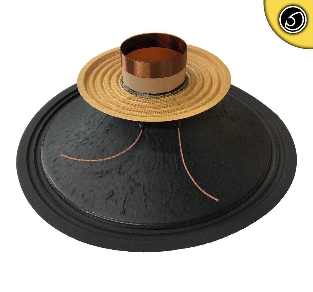 """Bassface PAW15.1 800w 15"""" 38cm 8Ohm Mid Woofer Midbass Driver Recone Kit Single"""