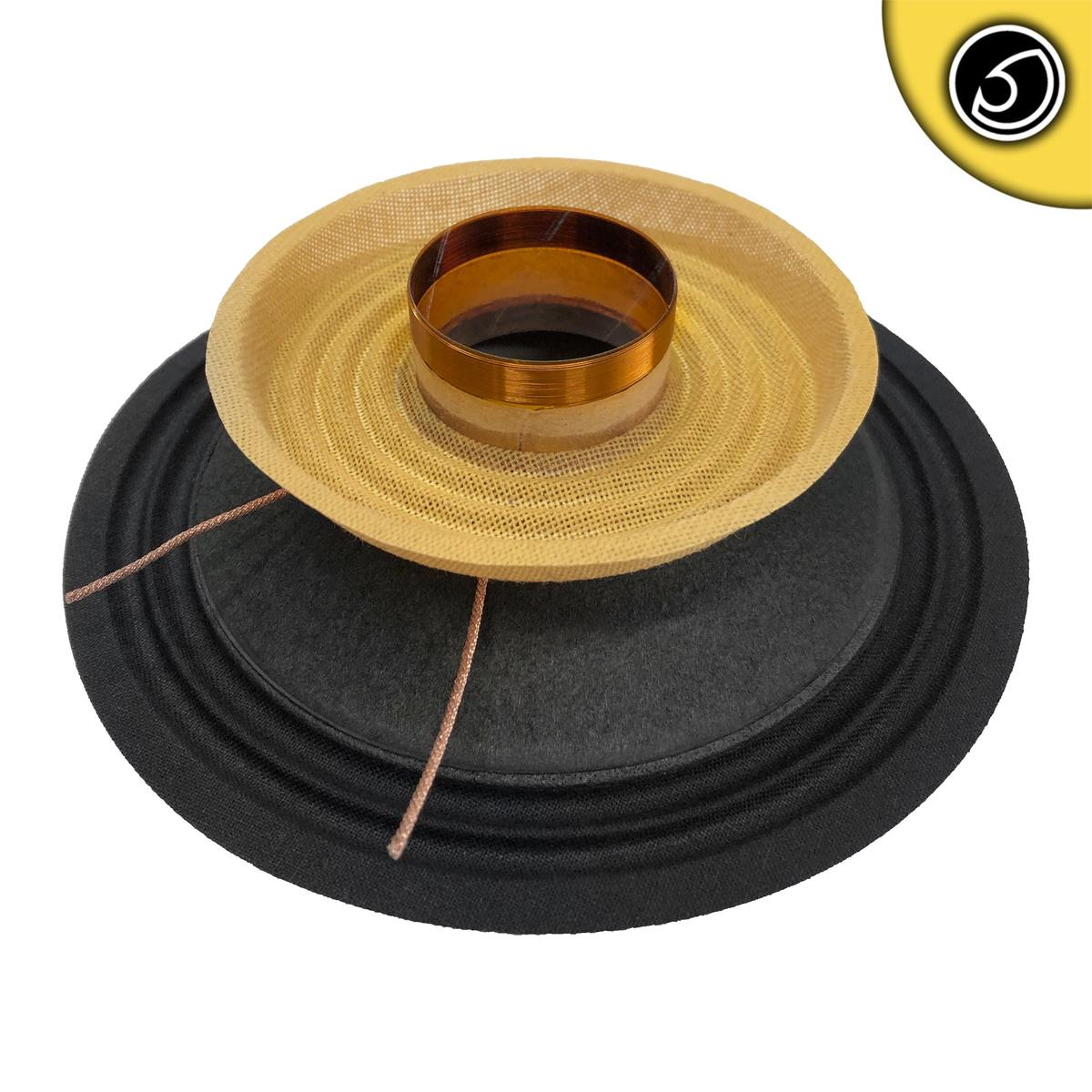 """Bassface PAW6.1 160w 6.5"""" 17cm 4Ohm Mid Woofer Midbass Driver Recone Kit Single"""