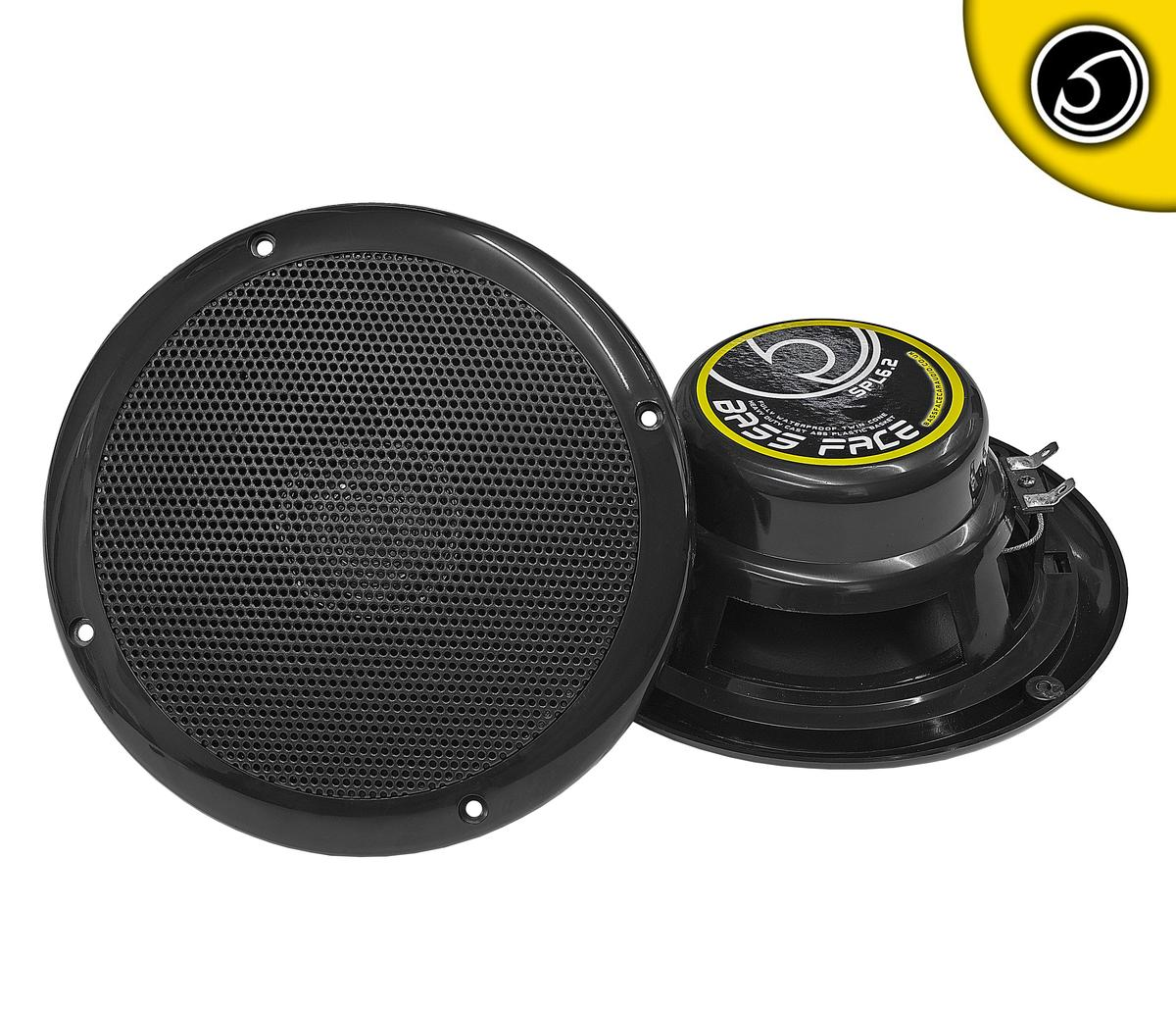 "Bassface SPL6.2B 300w 6.5"" Inch 17cm Waterproof Marine Boat Speaker Pair Black"
