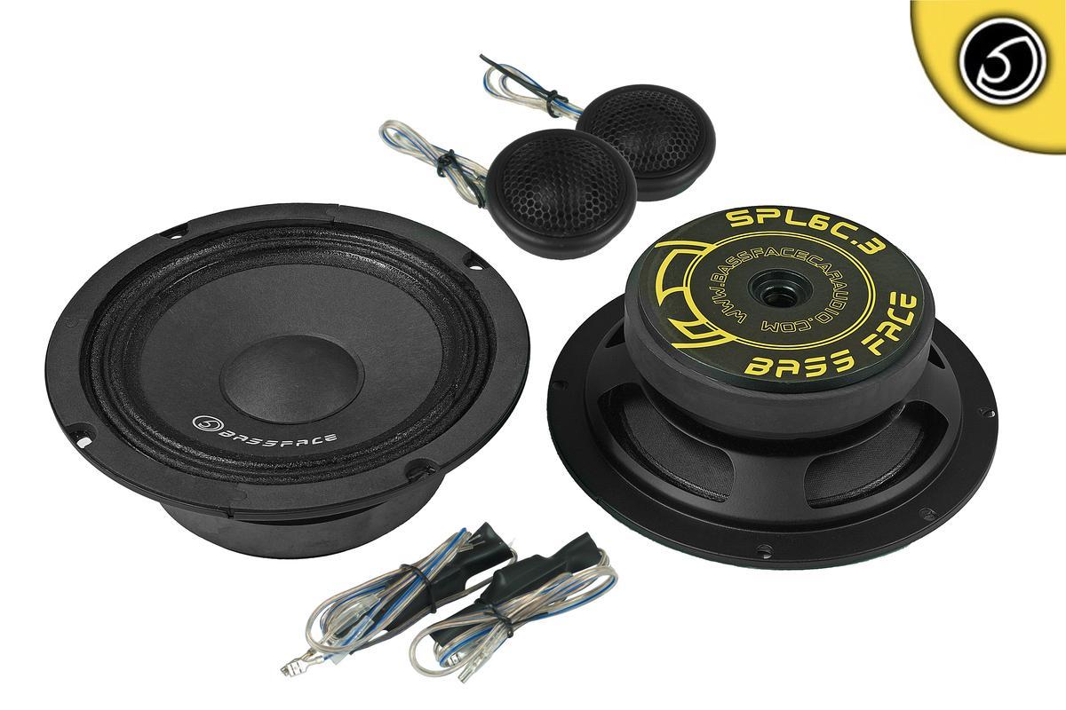 "Bassface SPL6C.3 6.5"" Inch 16.5cm 4Ohm Car Component Speaker & Tweeter Kit 800w"