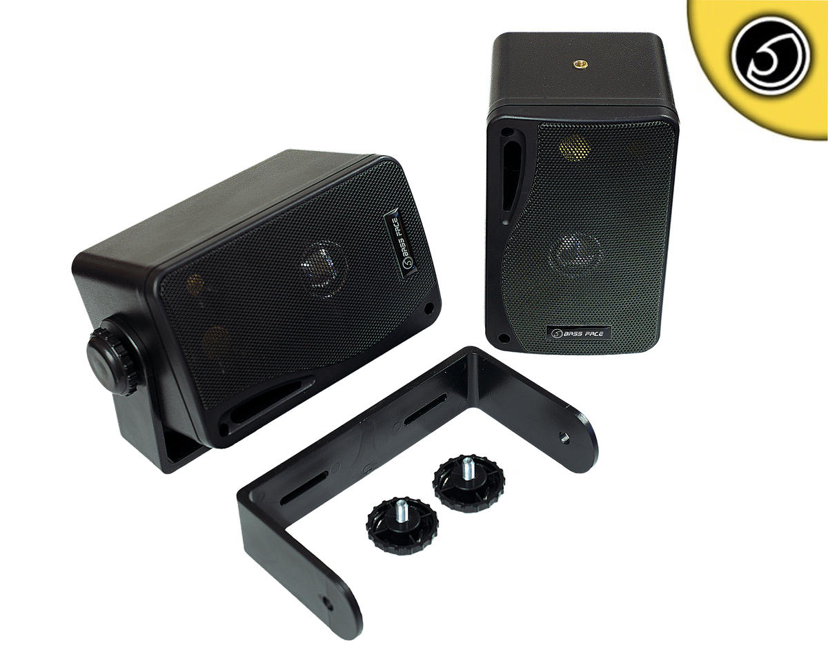 Bassface SPLBOX.1 200w Versatile Mini Box Dash Wall Speakers Car Truck Van Pair