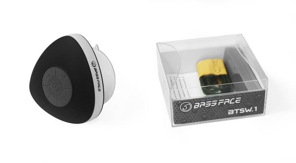Bassface BTSW.1BLACK Waterproof Shower Bluetooth Speaker Iphone Android iPhone Thumbnail 3