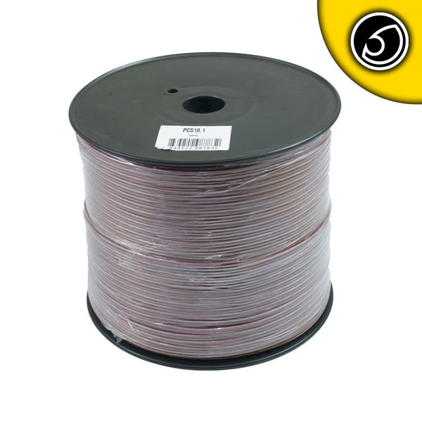 Bassface PSC18.1 300m Roll 18AWG .82mm Pure OFC Speaker Cable Wire 70 Strand Thumbnail 1