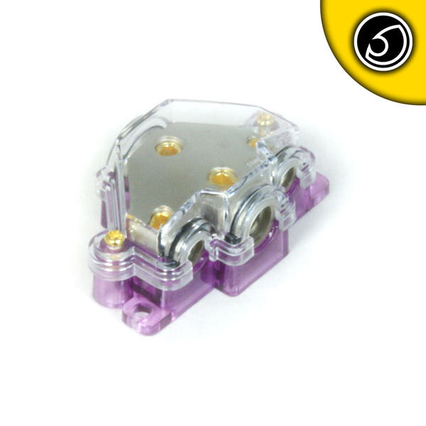 Bassface PWD04.2 12V Unfused Audio Power Distribution Block 1x0AWG 1x4AWG 2x8AWG Thumbnail 1