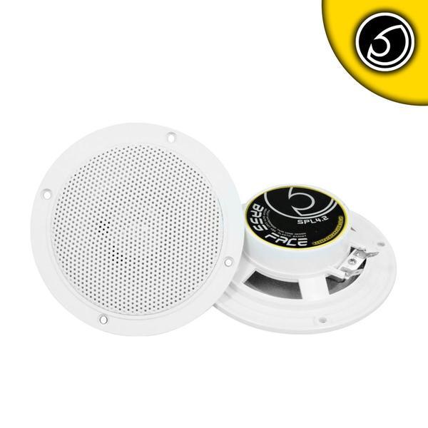 "Bassface SPL4.2 200w 4"" Inch 10cm Waterproof Wall Ceiling Marine Speaker Pair Thumbnail 1"