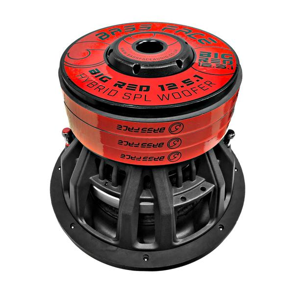 """Bassface BIGRED12.5 12"""" Inch 30cm 3000w RMS Subwoofer 2x1Ohm Extreme SPL SQ Sub Thumbnail 4"""