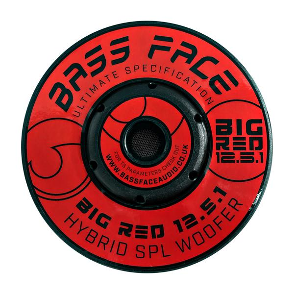 """Bassface BIGRED12.5 12"""" Inch 30cm 3000w RMS Subwoofer 2x1Ohm Extreme SPL SQ Sub Thumbnail 5"""