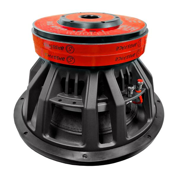 """Bassface BIGRED15.5 15"""" Inch 38cm 3500w RMS Subwoofer 2x1Ohm Extreme SPL SQ Sub Thumbnail 4"""