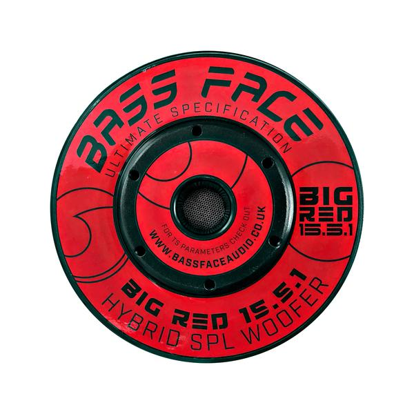 """Bassface BIGRED15.5 15"""" Inch 38cm 3500w RMS Subwoofer 2x1Ohm Extreme SPL SQ Sub Thumbnail 5"""