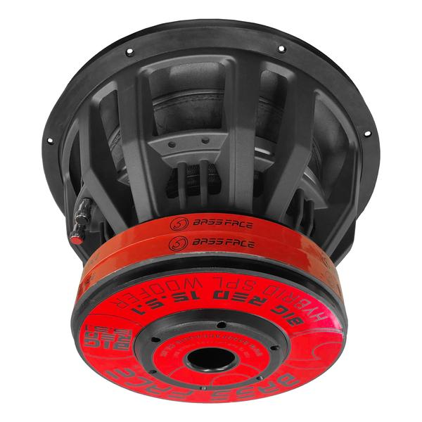 """Bassface BIGRED15.5 15"""" Inch 38cm 3500w RMS Subwoofer 2x1Ohm Extreme SPL SQ Sub Thumbnail 6"""