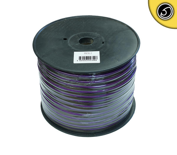 Bassface PSC10.2 75m Roll 10AWG 6mm Pure OFC Speaker Cable Wire 525 Strand Thumbnail 1
