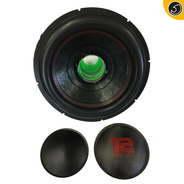 Bassface RED12.4RC 12 Inch 30cm Complete Subwoofer Recone Kit 2x2Ohm DVC Thumbnail 4
