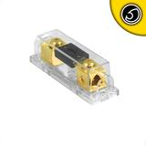 Bassface PFH.1 Gold Plated Car Audio Fuseholder With 200A ANL Fuse 0/1AWG Inputs