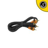 Bassface PRCA1.1 Pure OFC Twist RCA Phono Audio Cable Patch Lead 1 Meter Length