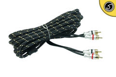 Bassface PRCA5.2 Pure OFC SQ Shielded RCA Phono Audio Cable Lead 5 Meter Length