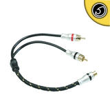 Bassface PRCAYM.2 Pure OFC Shielded RCA Phono Audio Cable Y Lead Splitter 1F 2M