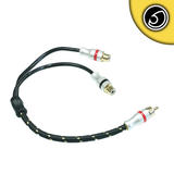 Bassface PRCAYF.2 Pure OFC Shielded RCA Phono Audio Cable Y Lead Splitter 2F 1M