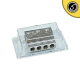 Bassface PWD00.1 Unfused Car Audio Power Distribution Block 1x0AWG 2x2AWG 4x4AWG