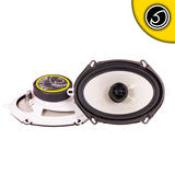 "Bassface SPL57.1 500w 5x7 6x8"" Inch 14x19cm Coaxial 2Way Car Door Speakers Pair"