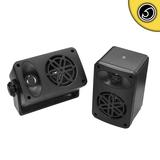 Bassface SPLBOX.4BK 200w Marine Boat Van Outdoor Box Speakers Pair Black