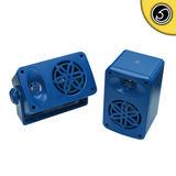Bassface SPLBOX.4BL 200w Marine Boat Van Outdoor Box Speakers Pair Blue