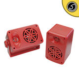 Bassface SPLBOX.4RD 200w Marine Boat Van Outdoor Box Speakers Pair Red
