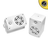 Bassface SPLBOX.4WT 200w Marine Boat Van Outdoor Box Speakers Pair White