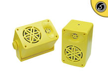 Bassface SPLBOX.4YL 200w Marine Boat Van Outdoor Box Speakers Pair Yellow