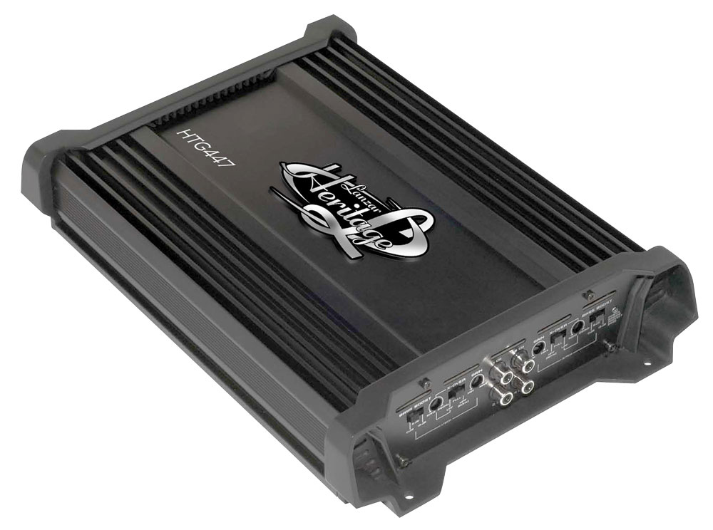 Lanzar Heritage 4 Ch Four Channel 2000w Bridgeable Car Speaker Amplifier Amp