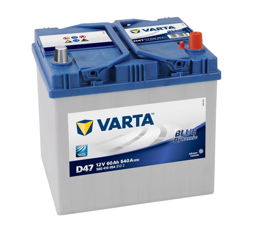Varta D47 Ford Honda Kia Mazda 12v Volt 60Ah 540CCA 005L 4 Year Car Battery