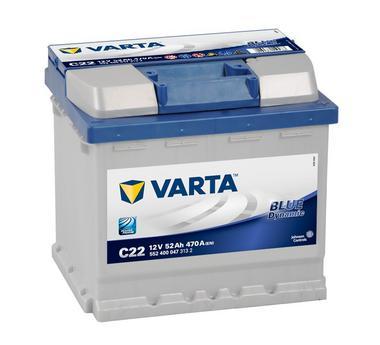 Varta C22 Heavy Duty 12 Volt 012 52Ah 470CCA 4 Year Alfa Citreon Fiat Peugeot Car Battery