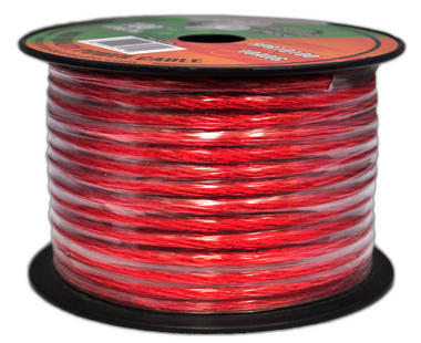 Pyramid RPR10100 10 Awg Gauge Clear Red Car Audio Amplifier Power Wire 100ft OFC Thumbnail 2