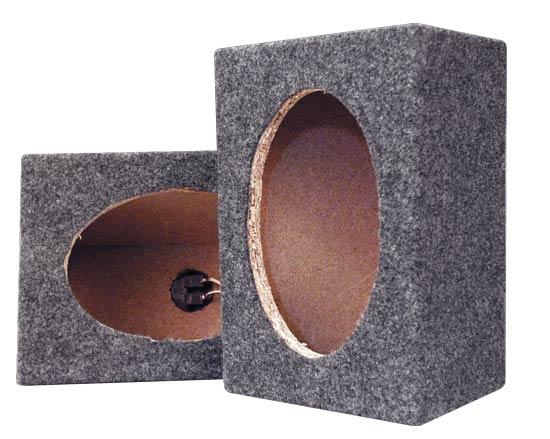 Pyramid PMB69MT Empty Carpeted 6'' x 9'' Speaker Cabinet Thumbnail 2