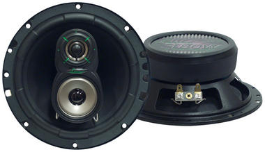 "Lanzar VX 6.5"" 16.5cm 17cm 180w Coaxial Three Way Pair Car Door Shelf Speakers Thumbnail 2"