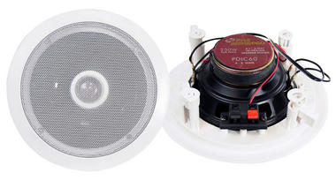 "Pyle Home 6.5"" Pair Of 2-Way In Ceiling Wall HiFi Speakers Flush Mount White Thumbnail 2"