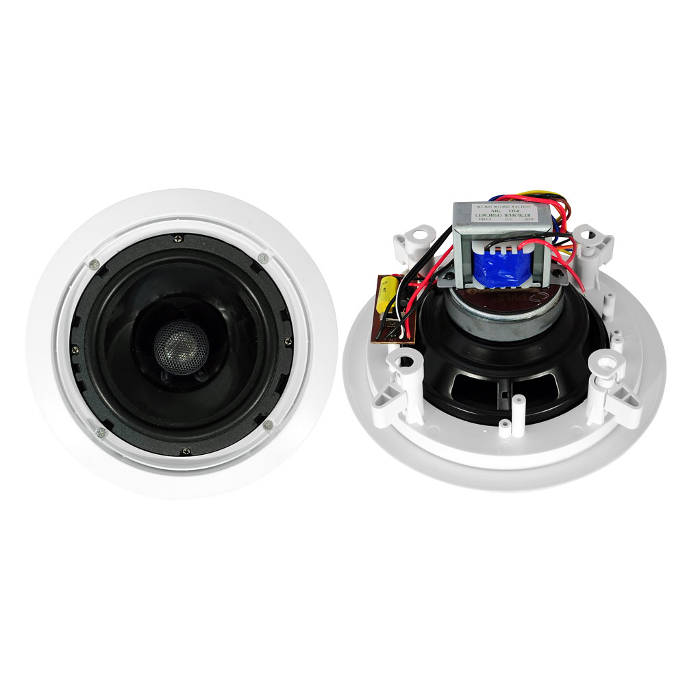 """Pyle PDIC60T 6.5"""" 2-Way In-Ceiling In-Wall Speakers 70V Tap Tapping Transformer"""