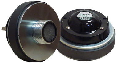 "Pyle 400w 1.35"" Titanium DJ Cabinet Compression Driver 8 Ohm Screw On Tweeter Thumbnail 2"