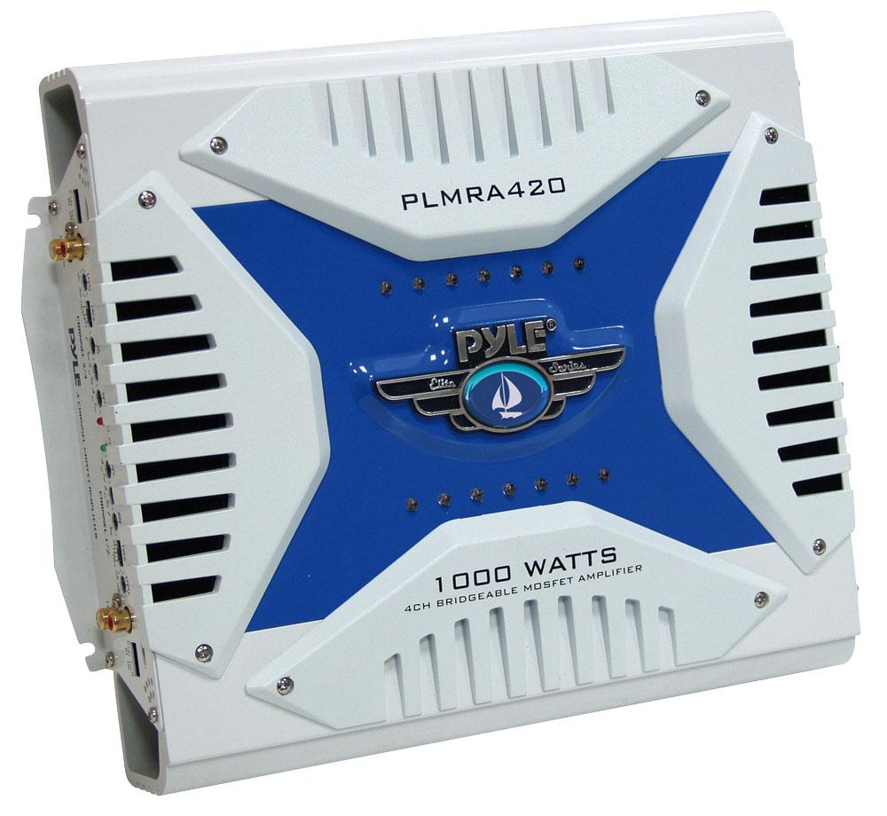 Pyle PLMRA420 4 Channel 1000w WaterProof Marine Bridgeable Mosfet Amplifier