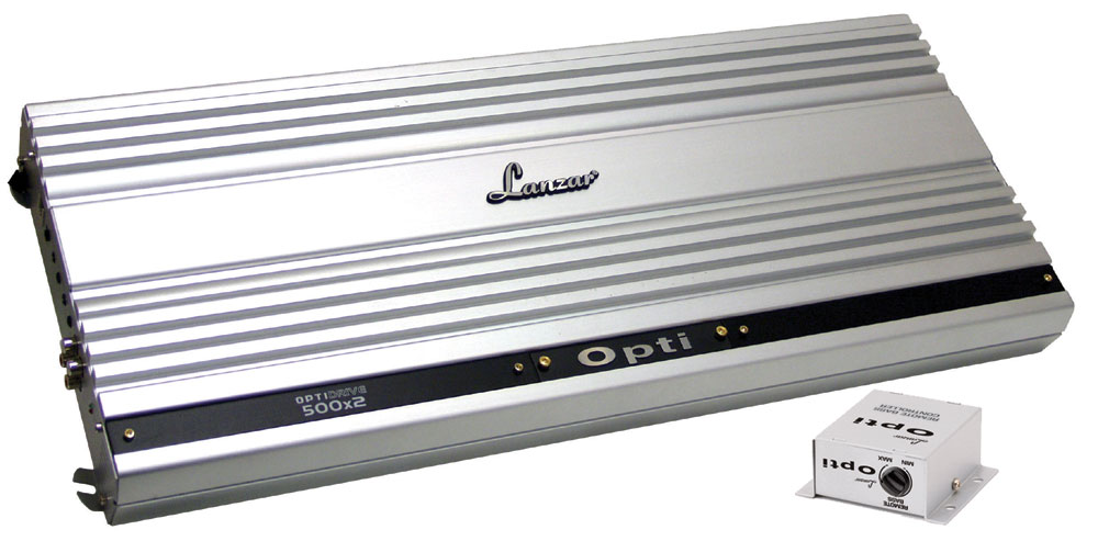 Lanzar OPTI 2 Two Channel Stereo Competition Car Speaker Amplifier 2000w