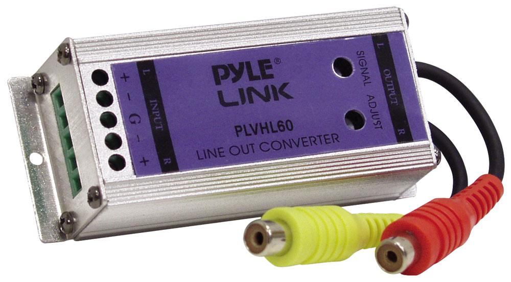 Pyle PLVHL60 2 Channel Speaker Ouput Level to RCA Line Converter