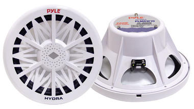 "Pyle PLMRW10 10"" 500W 4 Ohm Marine WaterProof ABS Subwoofer Sub Bass Speaker Thumbnail 2"