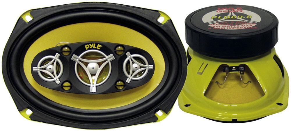 Pyle PLG69.8 6x9 Inch 500w Eight-Way Car Door Shelf Car Speakers