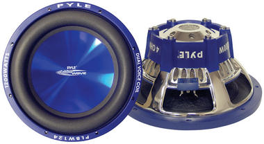 "Pyle Blue PLBW84 8"" 600w Car Subwoofer Sub Bass Driver Car Subwoofer Sub Bass Thumbnail 2"