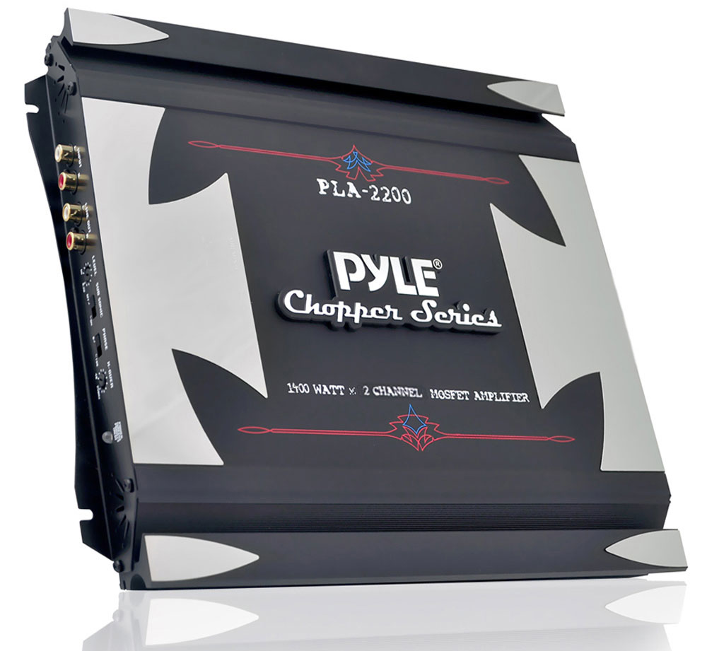Pyle Chopper 2 Ch Two Channel 1400w Slim Bridgeable Car Speaker Amplifier Amp