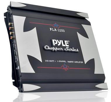 Pyle Chopper 2 Ch Two Channel 1400w Slim Bridgeable Car Speaker Amplifier Amp Thumbnail 1