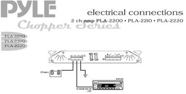 Pyle Chopper 2 Ch Two Channel 1400w Slim Bridgeable Car Speaker Amplifier Amp Thumbnail 4
