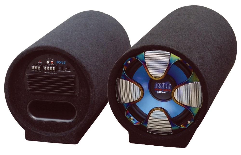 Pyle PLTAB8 8'' 250 Watt Amplified Subwoofer Tube